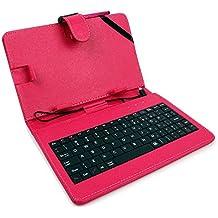 """DURAGADGET Custodia / Tastiera Rosa Per Tablet Di 7"""" - Connessione microUSB + Pennino Capacitivo - 2 Anni Di Garanzia - Alta Qualità"""