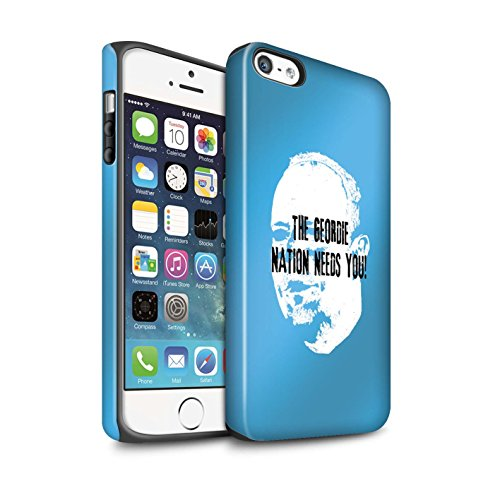Officiel Newcastle United FC Coque / Matte Robuste Antichoc Etui pour Apple iPhone SE / Pack 8pcs Design / NUFC Rafa Benítez Collection Nation Geordie