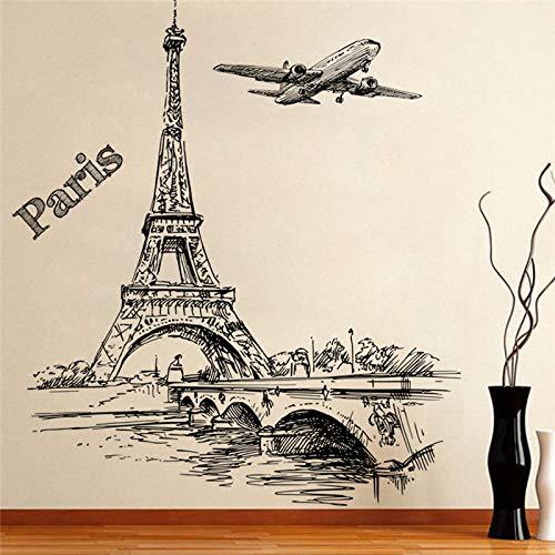 Tour romantique Paris avions Stickers Muraux Stickers Salon Chambre Décoration Décoration Chambre Enfants Décoration