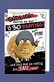 Geburtstag 30 Grußkarte AvanFun Tiermotive Partymaus 16x11cm