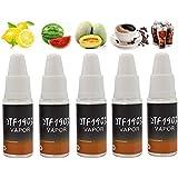 NOVEL™ 5 Bottle Variety Mix Pack - E-Liquid Shisha Pen Flavour Vape 0mg No Nicotine