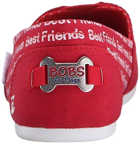 Bobs Von Skechers Bobs für Hunde Plüsch Slip-on flache Best Friends Red