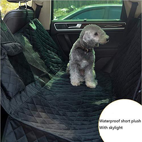 Hundedecke Für Auto Rückbank Wasserdicht Komplettschutz Comfort Autoschondecke Für Hunde Wasserfester Rücksitz Sitzbezug Ideale Autodecke Für Haustiere Schonbezüge Decke,Black -