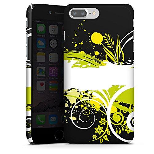 Apple iPhone X Silikon Hülle Case Schutzhülle Blumen Muster Abstrakt Premium Case glänzend