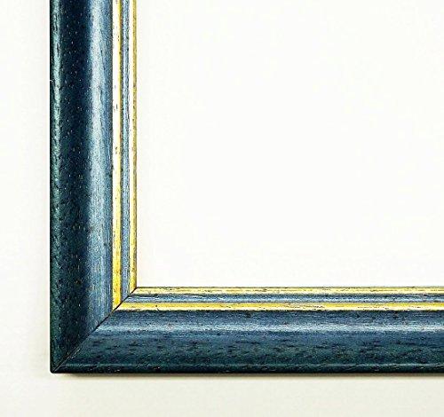 Online Galerie Bingold Bilderrahmen Davos Blau 2,5 - Wechselrahmen mit Museumsglas (UV-Schutz 45% - entspiegelt) - 40 x 60 cm - Antik, - Uv-glas-bilderrahmen