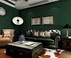 bizhi vliestapeten einfach pure plain dunkelgr n smaragd. Black Bedroom Furniture Sets. Home Design Ideas