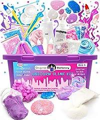 Idea Regalo - Original Stationery Kit Completo per Slime Unicorno - Laboratorio Slime per Bambine (Tutto Incluso) - Fabbrica dello Slime per Unicorno, Slime Fluffy, Cloud Slime, Slime Glitter e Slime Rosa