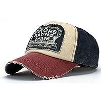 Cappello - TOOGOO(R)Snapback Pianura Di Hip-Hop Del Berretto Da Baseball Ragazzo Regolabile Cappello, Blu navy + Rosso