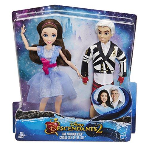 Disney Descendientes Two-Pack Jane Auradon Prep y Carlos la isla de los perdidos