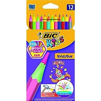 Lápices Bic Kids Evolution Circus Colorear (Pack de 12)