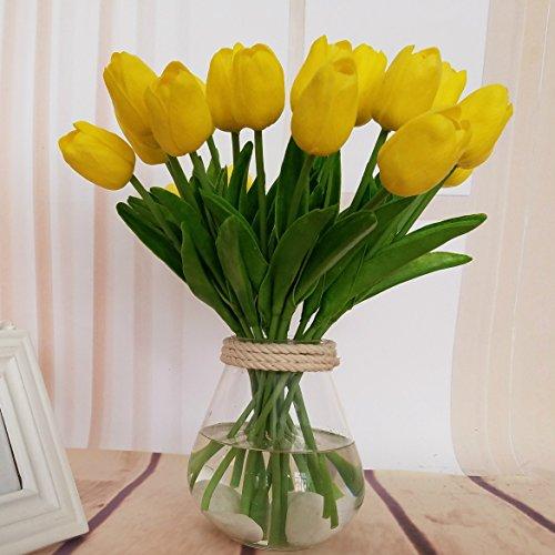 Bureze singolo ramo mini tulip fiori artificiali fiori finti per matrimonio casa decorazione