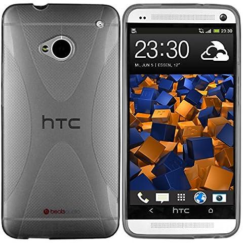 mumbi X-TPU Schutzhülle HTC One Hülle transparent schwarz (NICHT HTC One M8)