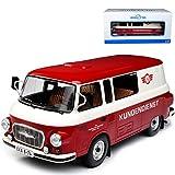 Ixo Barkas B1000 Bus Halbbus Simson Kundendienst VEB DDR Rot Beige 1961-1990 1/18 Modell Auto