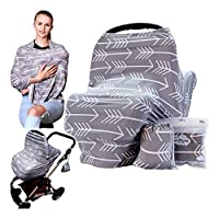 Baby Nursing Cover Stretchy Blanket Breastfeeding Scarf Multifuction Car Seat Canopy Gift for Mom