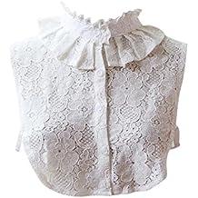 4b621304f Lenfesh Cuello Falso Camisa Desmontable
