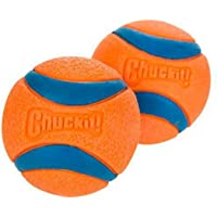 Chuckit Ultra Ball, Durable High Bounce Rubber Dog Ball, Launcher Compatible, 2 Pack, Small, (Packaging May Vary)