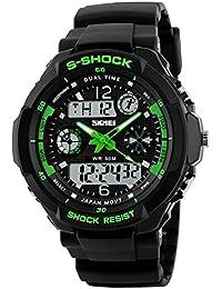 7ac7133b9 LED reloj Digital para hombre negro ejército militar reloj reloj de pulsera  banda de silicona reloj