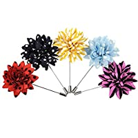 5pcs Men's Handmade Flower Lapel Pin Brooch Boutonniere Stick Wedding Tuxedo Corsage Suit ciciTree
