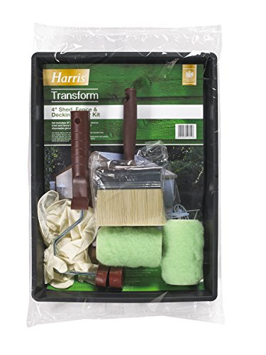 Harris 10602 Transform Shed, Fence and Decking Paint Roller Kit, Green, 4-Inch
