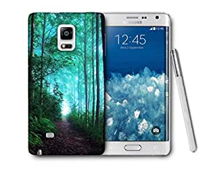 Snoogg Green Forest Printed Protective Phone Back Case Cover For Samsung Galaxy NOTE EDGE