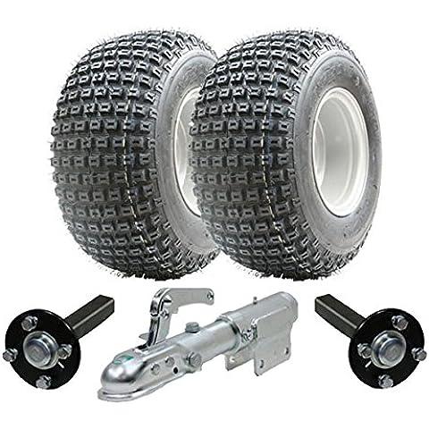Juego de remolque ATV - Quad remolque - ruedas Wanda + Steel Pulse centro de producción / ramal, 200kg giratoria Enganche