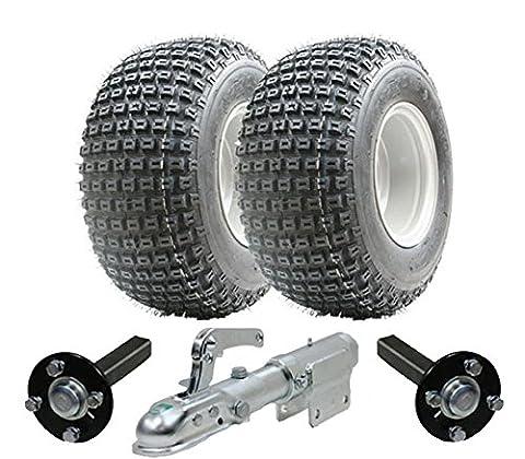 Kit de remorque ATV - Quad trailer - Wanda wheels + Steel Press hub / stub de production, pivot pivotant 200kg