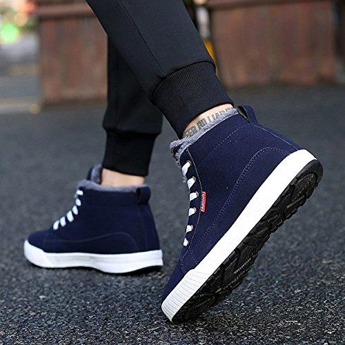 Sneaker, Gracosy Unisex Winter Schuhe Warm Gefütterte Freizeitschuhe Outdoor Schuhe Bequem mit Innenfell für Herren Damen Blau 42