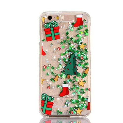 iPhone 6/6S Hülle - 3D Kreatives Design Luxus Shiny Flow Sand Entzückende Fließende Schwimmende Moving Shiny Glitzer Sequins Bling Cute Pattern Shell für iPhone 6/6S - Girl Boss 10-A