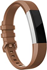 Fitbit Alta HR Bands-Fitbit Alta Bands-Brown Small,RedTaro Adjustable Replacement Accessory BandsStrapsBracelets for Fitbit Alta HRFitbit Alta for WomenMen(no Fitbit Fitness Trackers)
