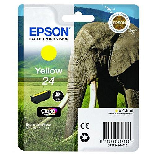 Epson T2424 Tintenpatrone Elefant, Singlepack gelb (Epson 24-drucker)