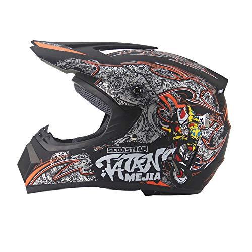 shuangfanbaihuo Seasons Crosslaufhelm Motocrosshelm Mountainbike Integralhelm schwarz