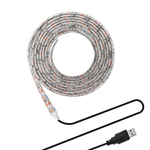 3528 100 CM ONEVER DC 5V SMD 3528 LED-Streifen mit USB-Kabel für TV Computer Desktop Laptop Hintergrund dekorative Beleuchtung warmes Weiß 1