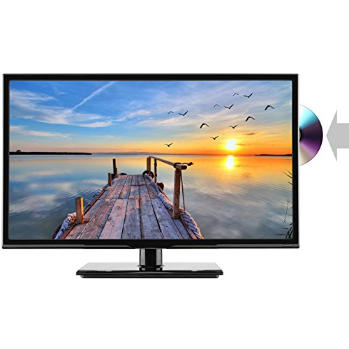 HKC 24C2NB 60,50 cm (24 Zoll) LED Fernseher mit DVD-Player (HD Ready, Triple Tuner für DVB-T / T2, C, S / S2, H.265 HEVC CI Plus, Mediaplayer USB 2.0) [Energieklasse A Plus]