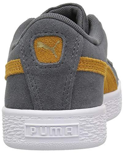 PUMA Unisex-Kids Suede Classic Sneaker  Iron Gate-Buckthorn Brown Team Gold  12 M US Little Kid