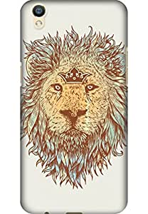 AMEZ designer printed 3d premium high quality back case cover for Oppo F1 Plus (The blue blooded and the brave lion)
