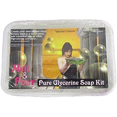 Melt preparar de jabón 475g. Base jabón de glicerina. Peso: aprox. 475 G.. Un regalo ideal - ideal para cumpleaños, Navidad......