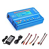 Haisito 80W 6A Lipo Battery Balance Charger Discharger for LiPo/Li-ion/LiFe/LiHV Battery (1-6S), NiMH/NiCd