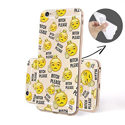 Emoji - Molti Emoji SILICONE, iPhone 6/6S Plus Bitch Please Emoji SILICONE