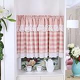 YHviking Japanische Vorhang,Halber Vorhang,Dekorative Tapeten,Kleine Drapieren Einfach Zu Waschen Verhindern, Dass Sonnenlicht Vorhänge Für Wohnzimmer Eingang Balkontür-B 140x200cm(55x79inch)