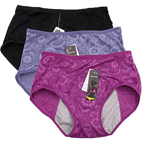 donne-periodo-mestruale-mutandine-jacquard-facile-pulire-le-mutandine-multi-pack-size-36-44-40-nero-
