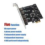 ideapro 4Port PCI-E auf USB 3.0PCI Express Erweiterungskarte PCIe Card Super Speed bis zu 5Gbps, kein Strom Extra Anschluss für Desktops Windows XP/Vista/7/8/10