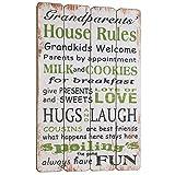 La decoración de la placa de abuelo de House Rules.. Puerta de la vendimia de la...