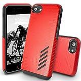 Coque iPhone 8 Orzly Grip-Pro Case Twin Layer - Coque Double Couche pour iPhone 8 / iPhone 7 – Une Double Couche pour Protection Maximale - Durable, Fin et Légère - Superbe Prise en main – ROUGE CORAIL