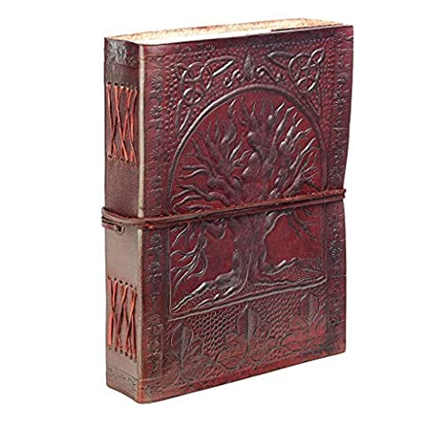 Fair Trade Tree Of Life Design Leather Journal