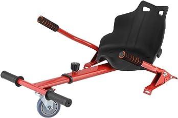 """Blackpoolal Sitzscooter Hoverkart für Roller Self Balance Scooter E-Scooter (6,5"""" / 8.0"""" / 10""""), Verstellbar Sitz GoKart Hover Seat Hoversitz Hover Kart Hoverseat Go Cart Sitz Aufsatz (Rot)"""