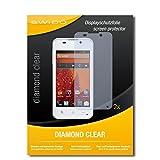 SWIDO 2 x Bildschirmschutzfolie BQ Readers Aquaris E4 Schutzfolie Folie DiamondClear unsichtbar