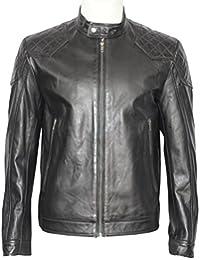 3846 para hombre negro suave con diseño de estampado de sábana bajera para cama de motorista de carreras para moto con cremallera funda de piel con instrucciones para coser chaquetas
