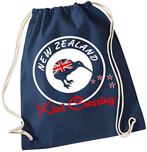 NEW ZEALAND GYMBAG Kiwi Crossing NEUSEELAND Navy