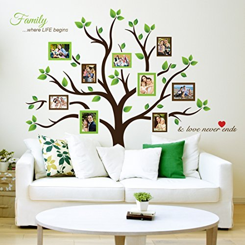Timber Artbox Large Family Tree Photo Frames Wall Decal - The Sweetest Highlight of Your Home and Family by Timber Artbox