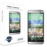 Tech Armor HTC One 2 (M8) Premium Ballistic Glass Screen Protector - Protect Your Screen from Scratches and Drops - Maximize Your Resale Value - 99.99% Clarity and Touchscreen Accuracy